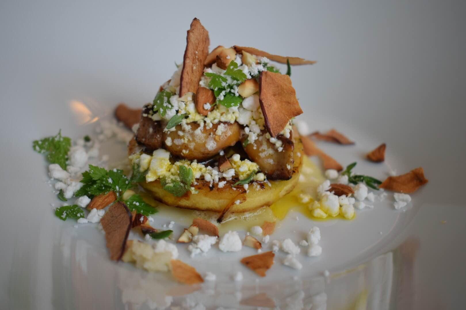 Stegt Foie Gras med æble i 3 teksturer